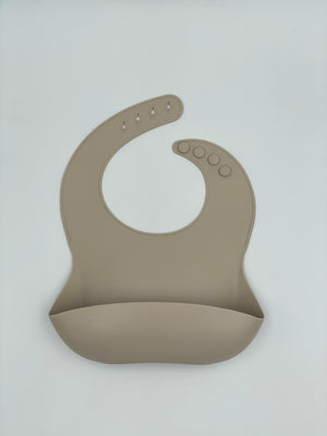 Load image into Gallery viewer, Silicone Bib - Taupe