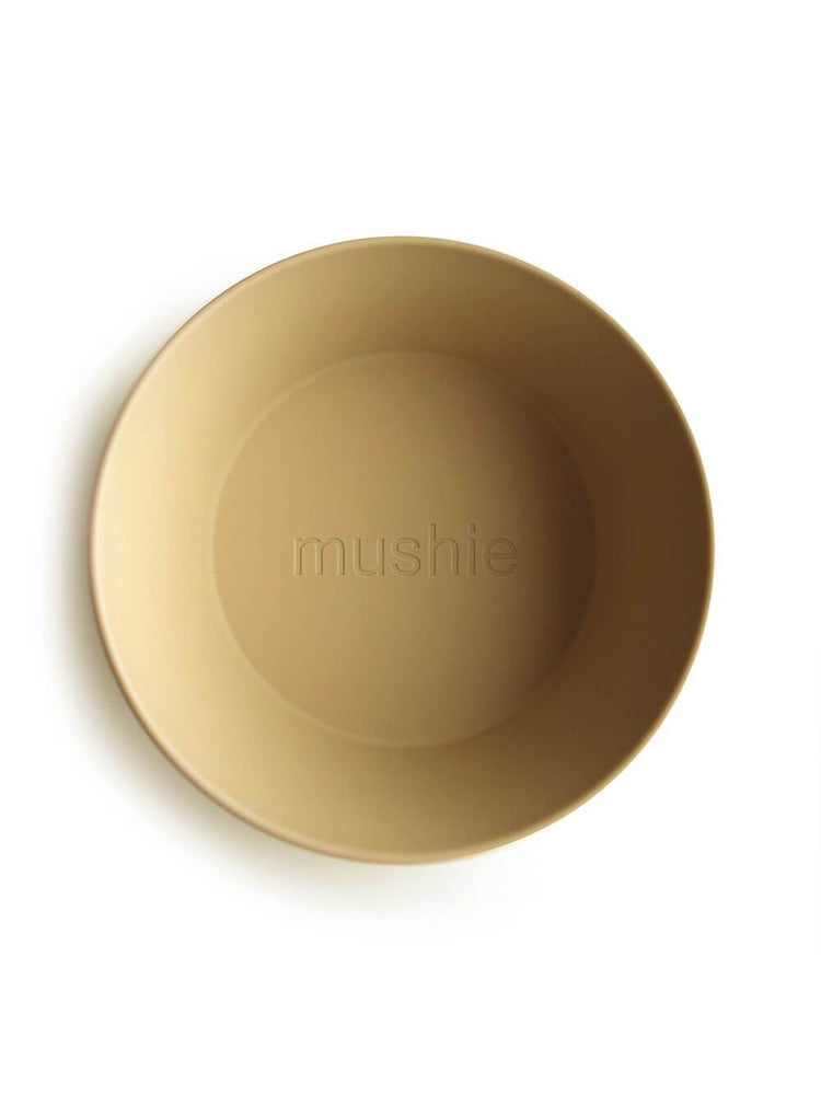Mushie Dinnerware - Round Dinnerware Bowl Set of 2 (Mustard)