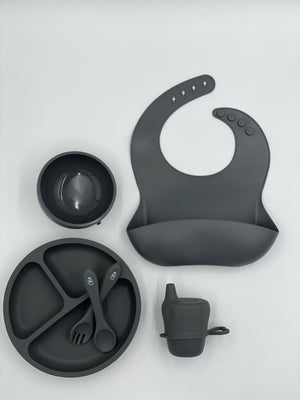Ultimate Feeding Set (Without Snackie Cup) - Charcoal
