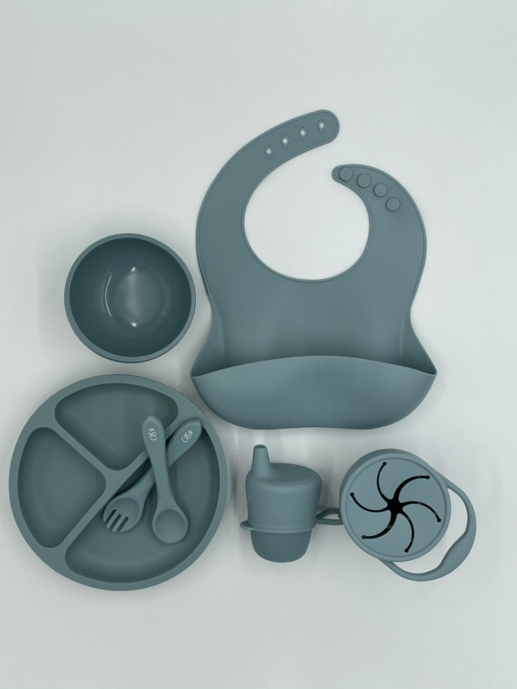 Ultimate Feeding Set (With Snackie Cup) - Dusty Blue