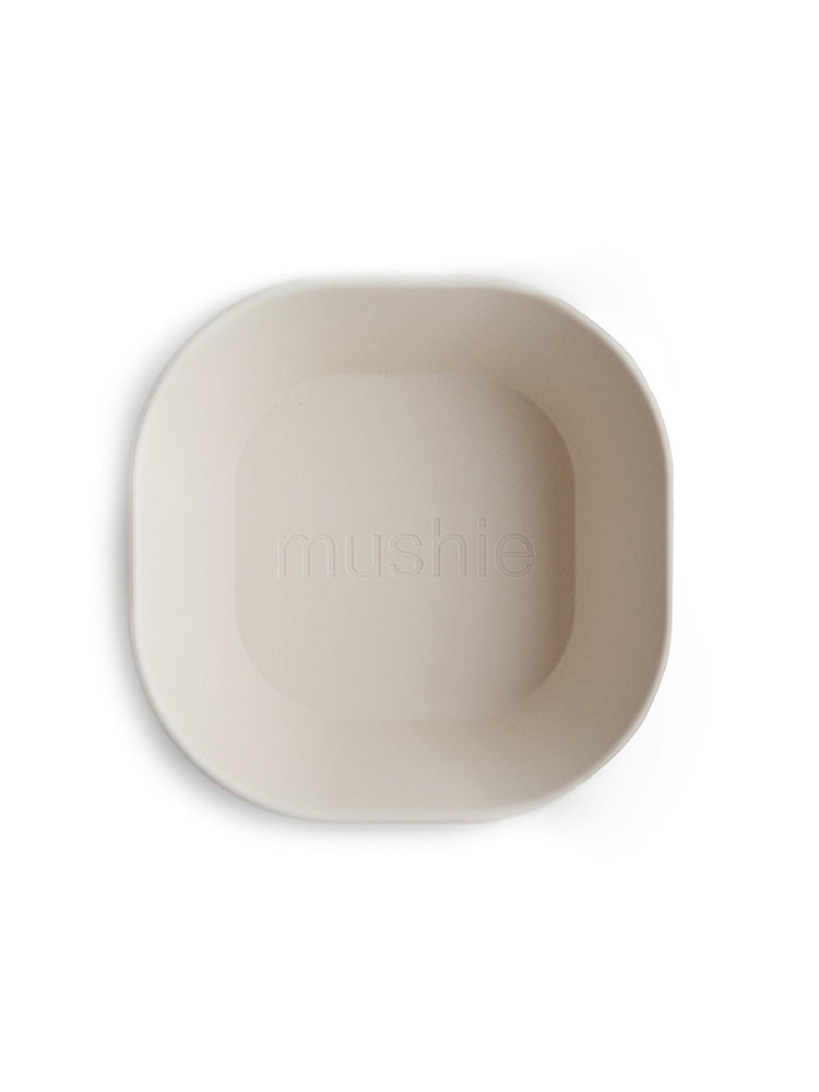 Mushie Dinnerware - Square Dinnerware Bowl Set of 2 (Ivory)