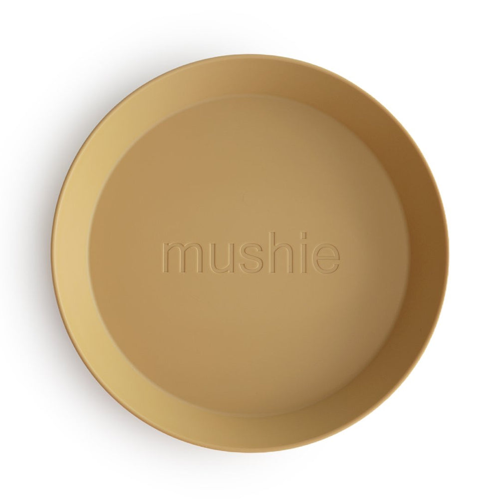 Mushie Dinnerware - Round Dinner Plates Set of 2 (Mustard)