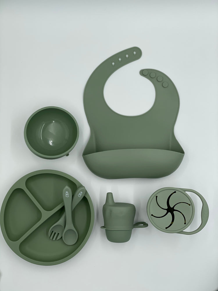 Ultimate Feeding Set (With Snackie Cup) - Sage
