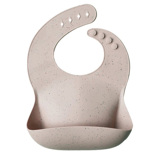 Mushie Silicone Bibs - Shifting Sands Terrazzo