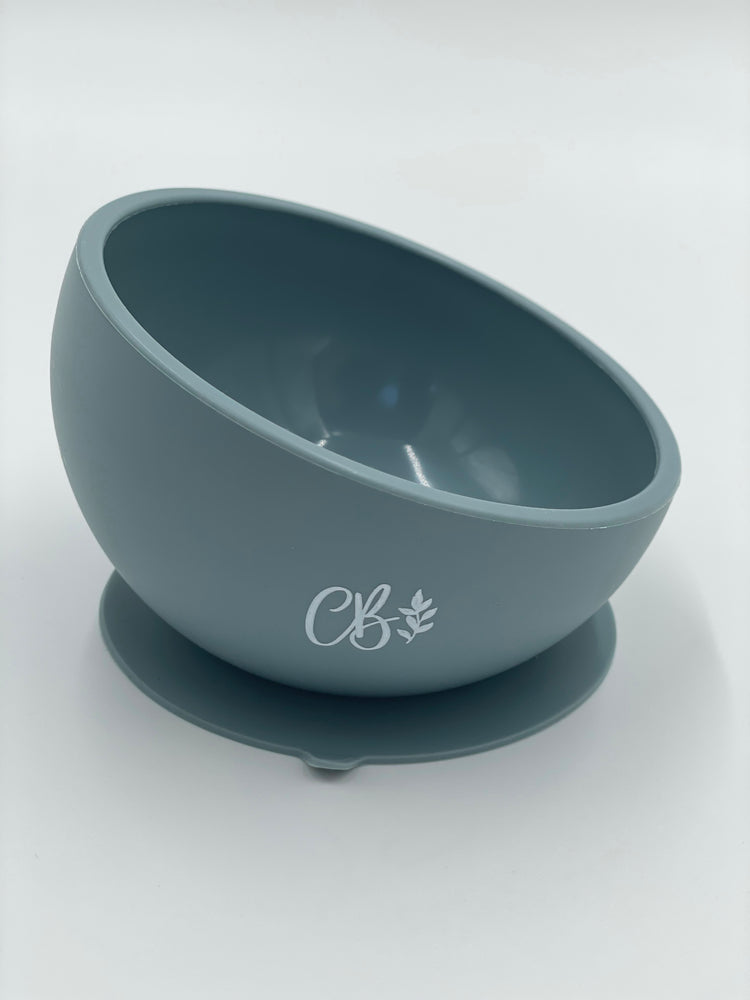 Silicone Suction Bowl - Dusty Blue