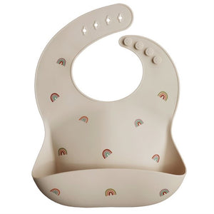 Load image into Gallery viewer, Mushie Silicone Bibs - Rainbow