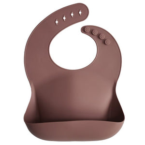 Load image into Gallery viewer, Mushie Silicone Bibs - Woodchuck