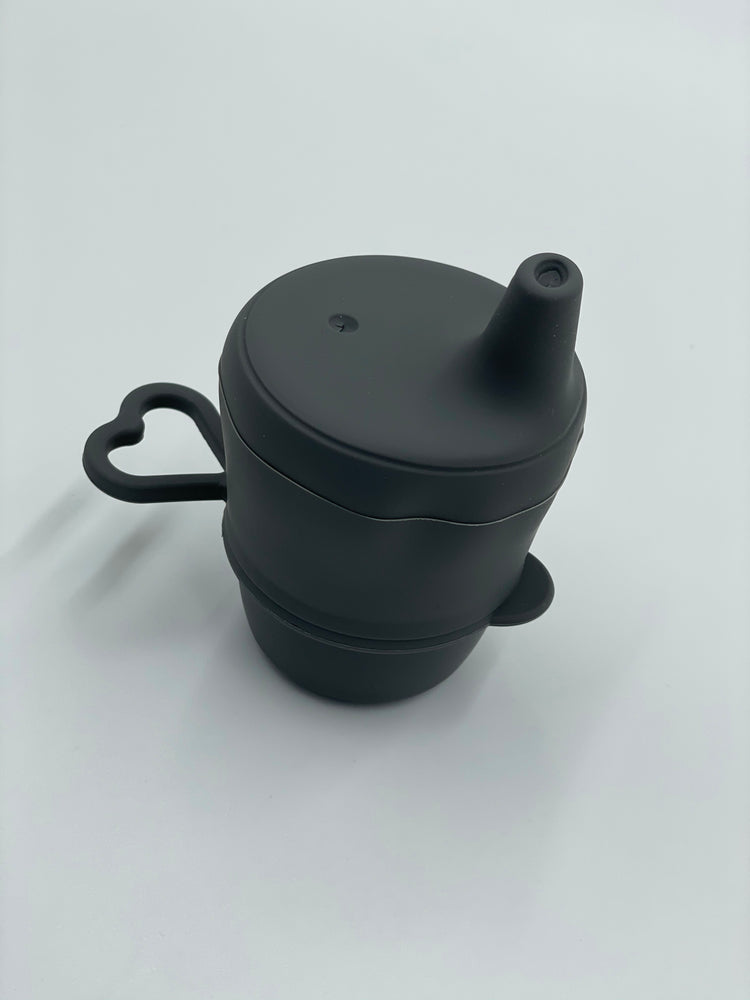 Silicone Sippy Cup with Lid - Charcoal