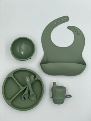 Ultimate Feeding Set (Without Snackie Cup) - Sage