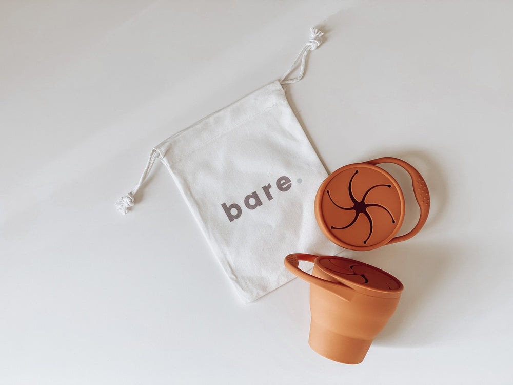 Bare The Label - Silicone Snackie Cup (Rust)