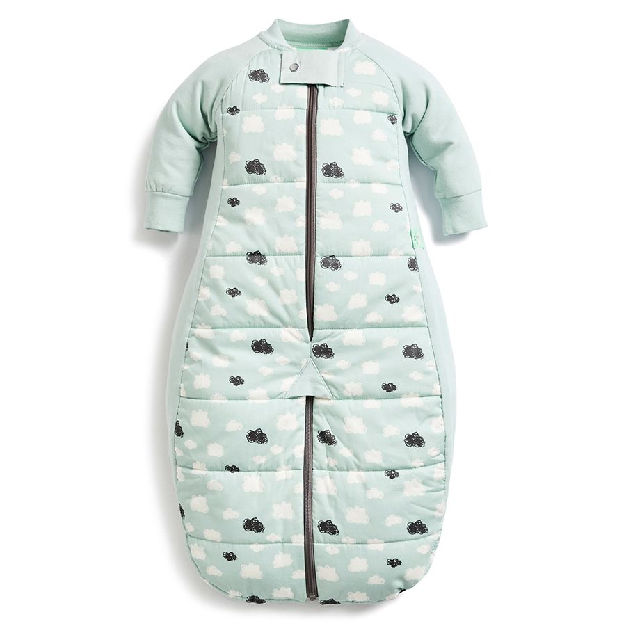 Load image into Gallery viewer, ergoPouch Mint Clouds Sleep Suit Bag 2.5 TOG