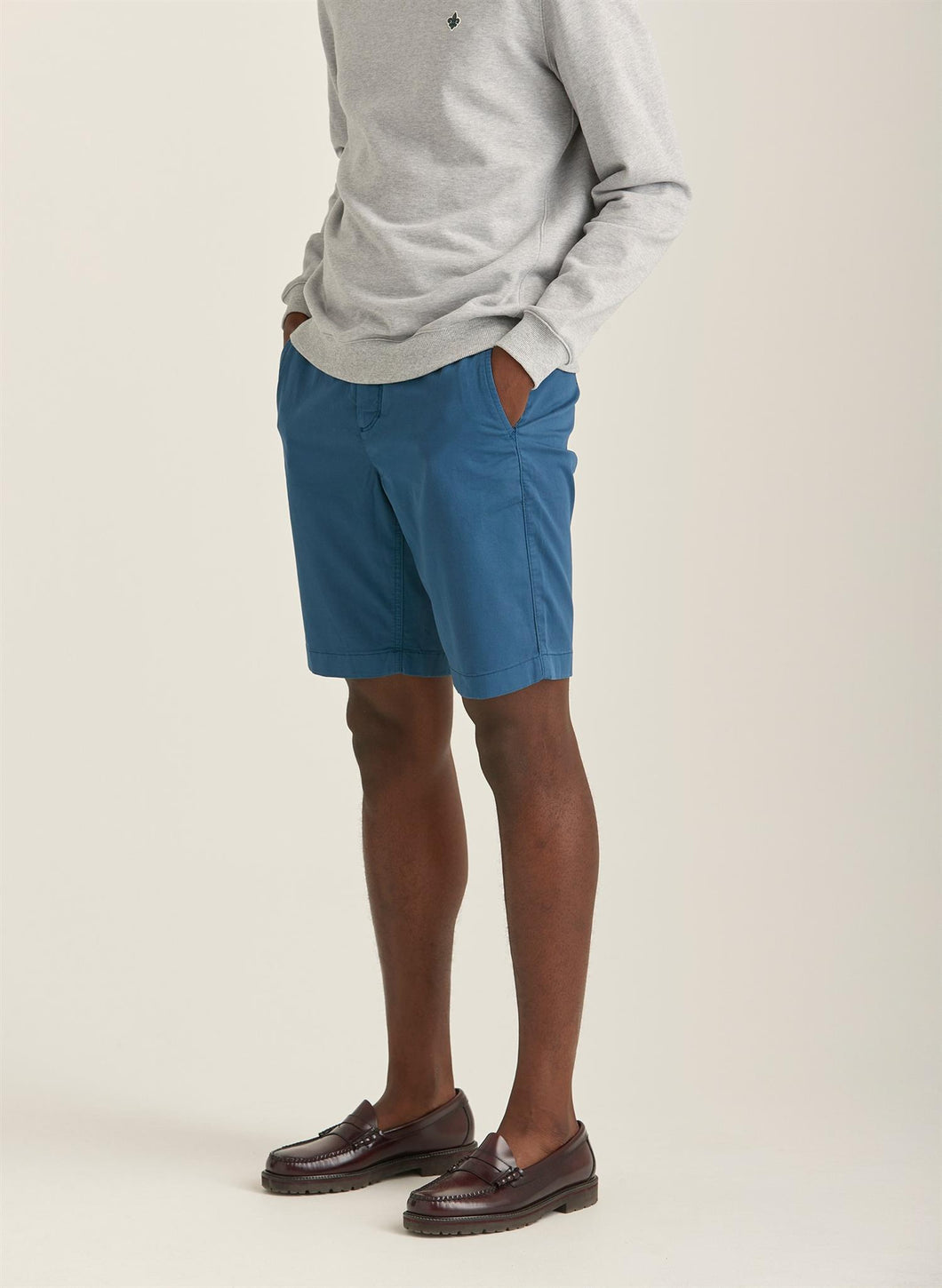 Regular Chino Shorts Blå