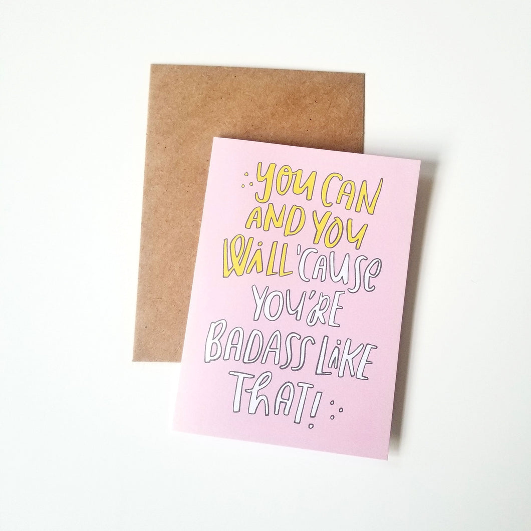 You can and you will inspirational greeting card