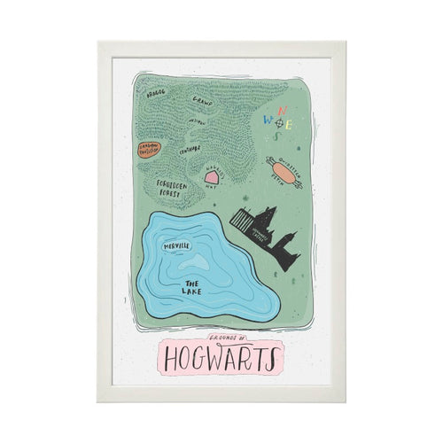 Hogwarts Grounds Map