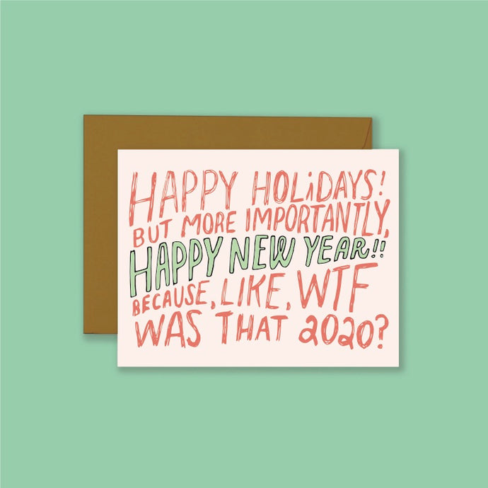 Happy New Year Holiday Card