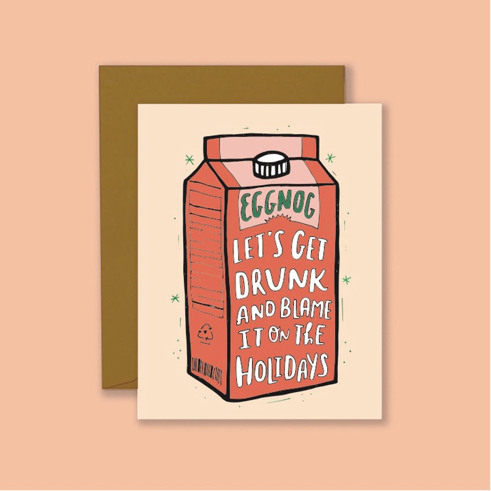 Eggnog Holiday Card
