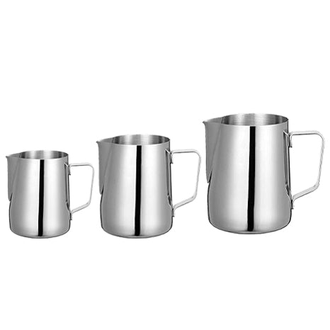 BENKI STAINLESS STEEL MILK PITCHERS (300 ML/ 600 ML/ 900 ML)