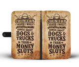 LUCKY COUNTRY PHONE WALLET CASE - POSHNPRINTS