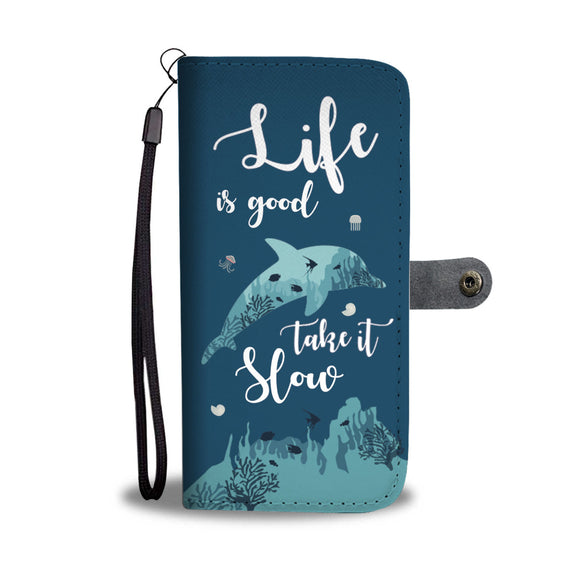 LUCKY DOLPHINS PHONE WALLET CASE - POSHNPRINTS