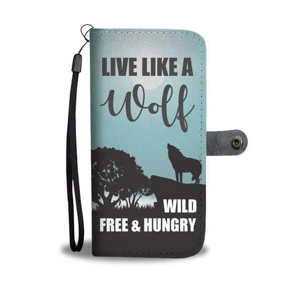 LUCKY WOLF PHONE WALLET CASE - POSHNPRINTS