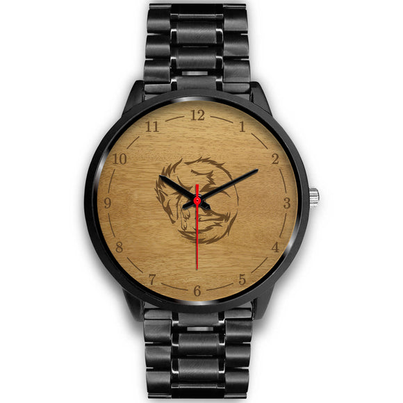Awesome Wolf Black Watch - POSHNPRINTS