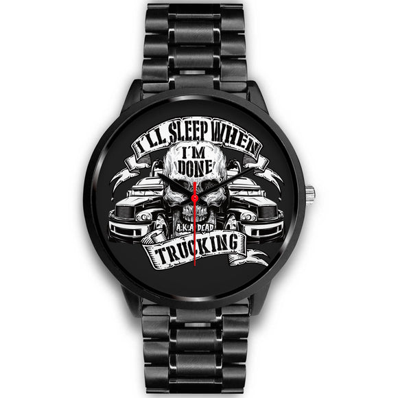 Awesome Skull-Truck Black Watch - POSHNPRINTS