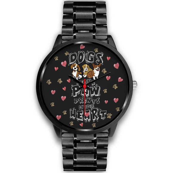 Awesome Dog Paw Black Watch - POSHNPRINTS