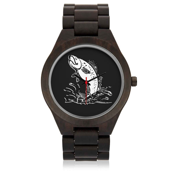 Custom Fishing Sandalwood Watch - POSHNPRINTS