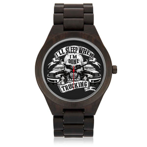 Custom Skull Sandalwood Watch - POSHNPRINTS