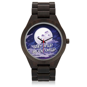 Custom Moon Sandalwood Watch - POSHNPRINTS