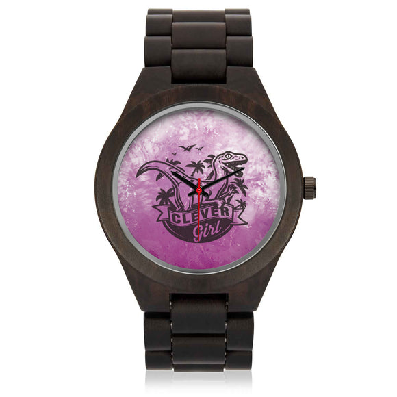 Custom T-rex Sandalwood Watch - POSHNPRINTS