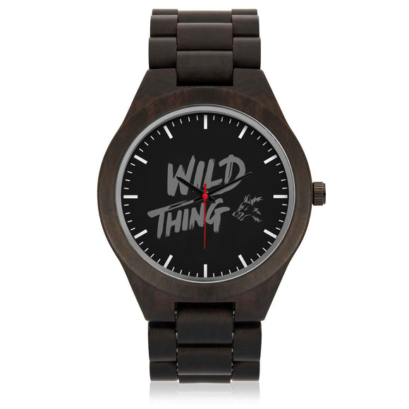 Custom Wild Fox Sandalwood Watch - POSHNPRINTS