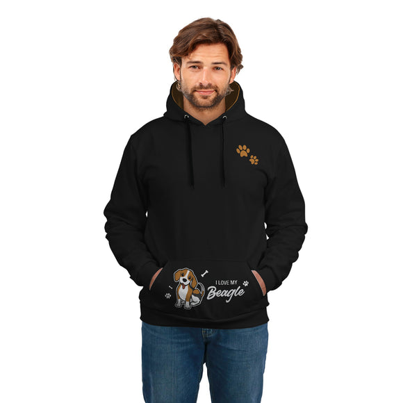 Stylish Dog Lover HODDIE - POSHNPRINTS