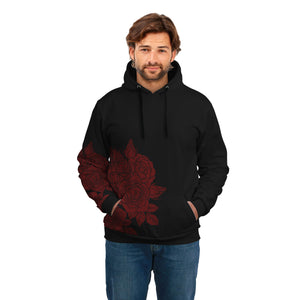 Stylish Red Flower HODDIE - POSHNPRINTS