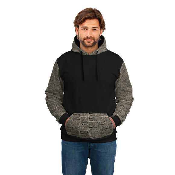 Stylish Gray Pattern HODDIE - POSHNPRINTS