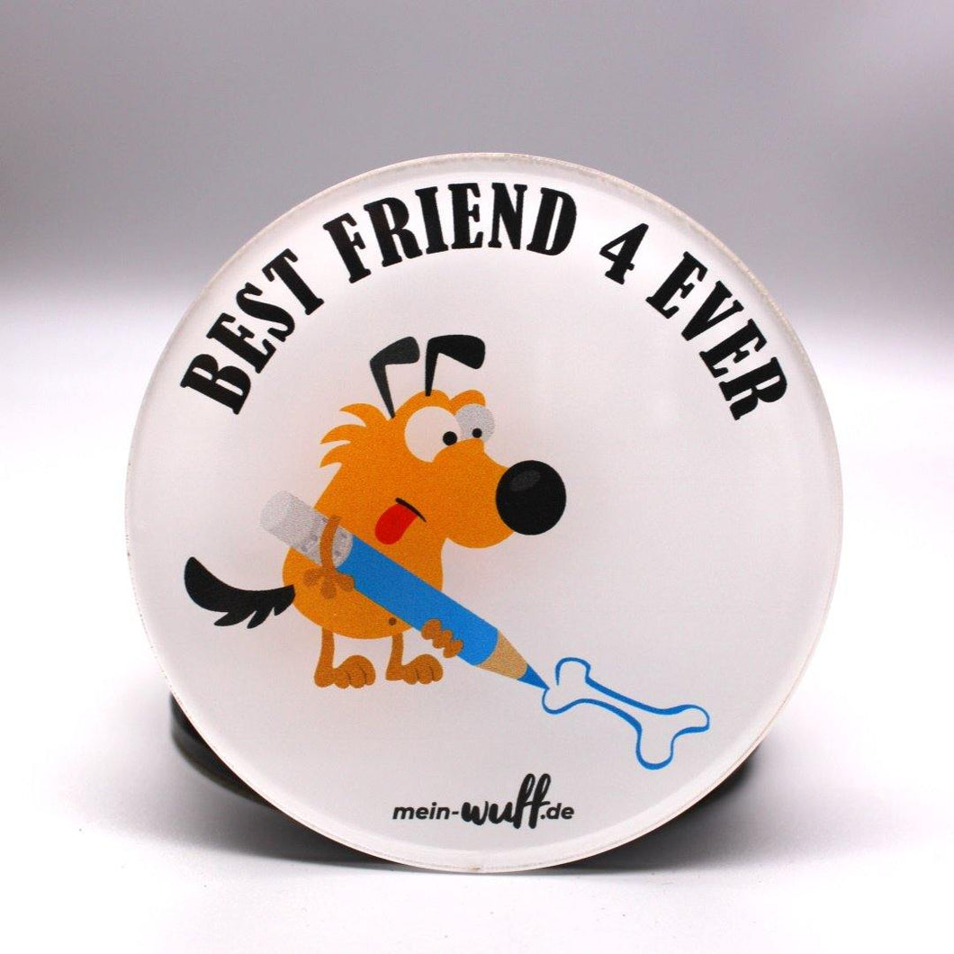 Best Friend 4 Ever - malender Hund - Untersetzer - 4er Set - mein-wuff