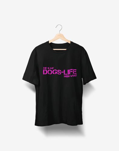 DOGS-LIFE magenta T-Shirt - mein-wuff