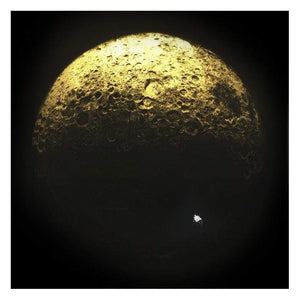 Dark Side Of The Moon, Gold Leaf by CJP Art | Enter Gallery