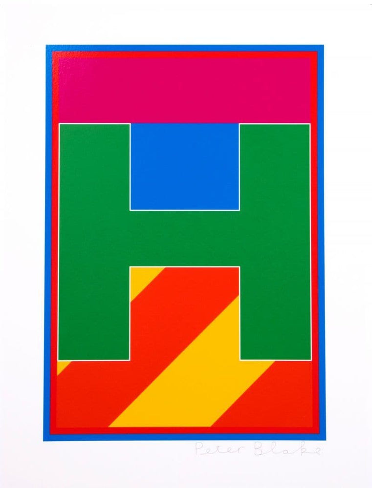 Dazzle Alphabet - H artwork by Peter Blake