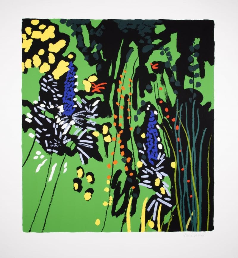 Green Garden with Unknown Flower artwork by Bruce Mclean
