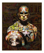 Captain America (Small) artwork by Dirty Hans