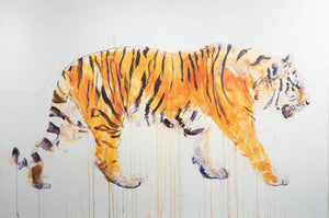Tiger – Diamond Dust by Dave White limited edition at Enter Gallery