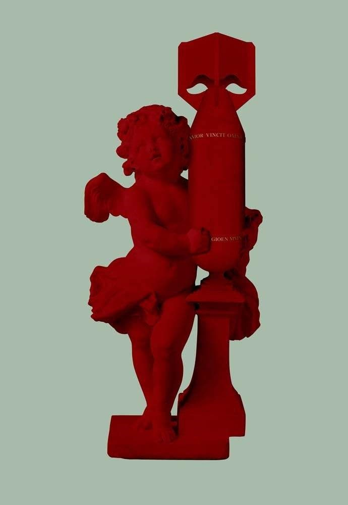 Cupid, Amor Vincit Omnia (Love Conquers All) (Red) artwork by Magnus Gjoen
