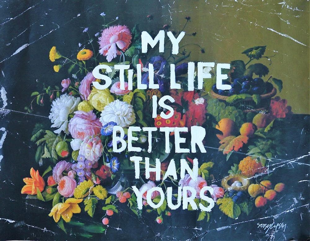 My Still Life is Better Than Your Flowers artwork by Soozy Lipsey