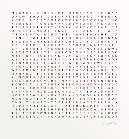 London Word Search artwork by Clive Sefton