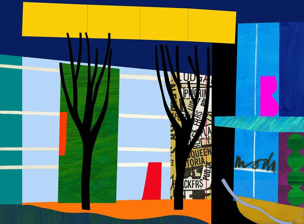 Designer Trees artwork by Bruce Mclean