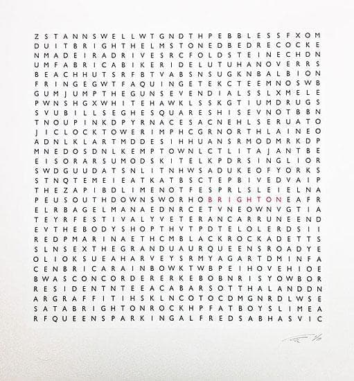 Brighton Word Search Small artwork by Clive Sefton