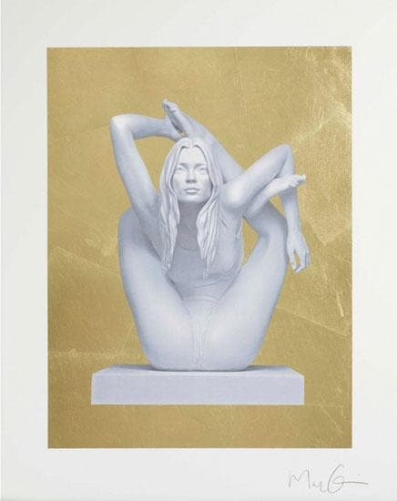 Sphinx Gold Leaf artwork by Marc Quinn