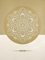 Obey Lotus Diamond White and Gold artwork by Obey (Shepard Fairey)