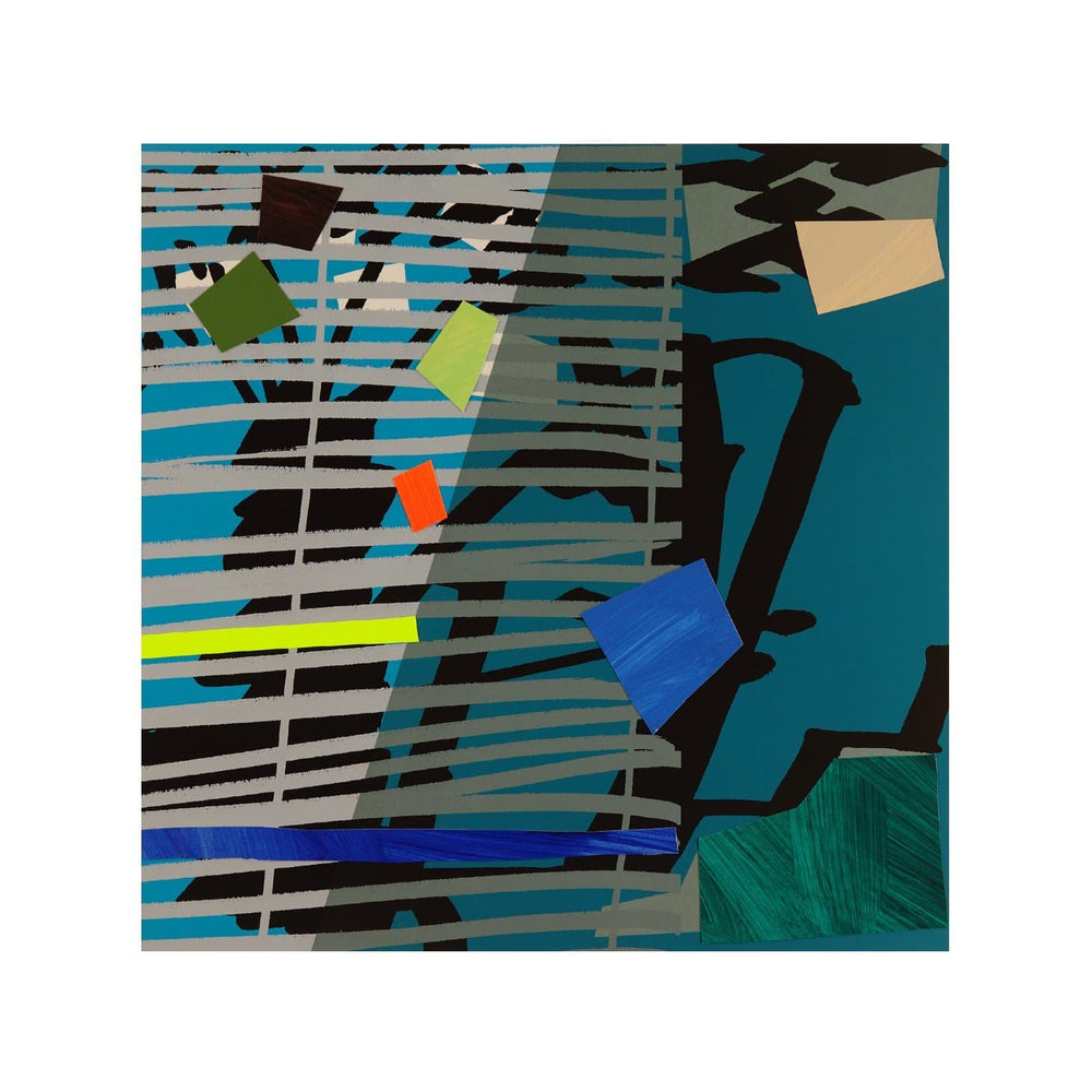 Blue Grey Blind artwork by Bruce Mclean